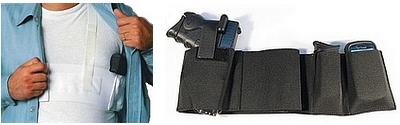 CCW Concealed Carry Shoulder - Belly Band Holsters