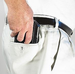 CCW Pocket Concealment Wallet Holster for 380s with Laser